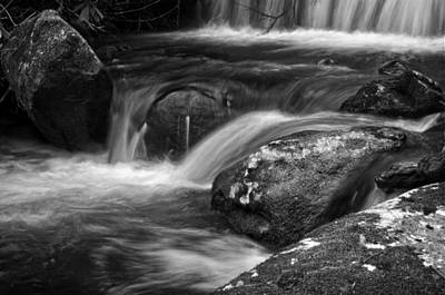 Western North Carolina Photograph - Mountain Stream In Black And White by Greg Mimbs