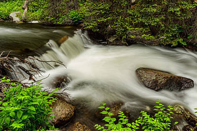 Flowing Photograph - Mountain Stream Waterfall by James BO  Insogna