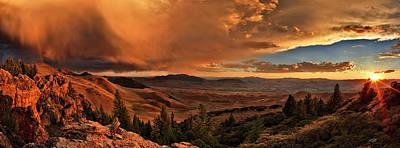 Wall Decor Photograph - Mountain Sunset by Leland D Howard