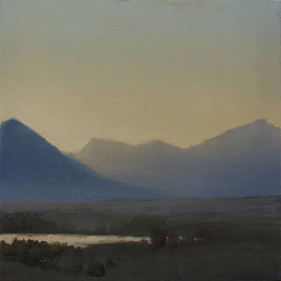 Painting - Mountain Valley Sold by Cap Pannell