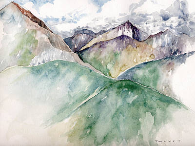 Line Drawings Painting - Mountain View Colorado by Catherine Twomey