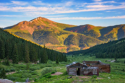 Old Cabins Photograph - Mountain Views by Darren White