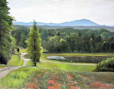 Mountain Vineyard Original by Christopher Reid