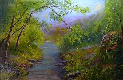 Rocks Painting - Mountain Wilderness by Michael Mrozik