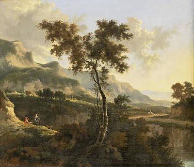 Painting - Mountainous Landscape by Jan Hackaert