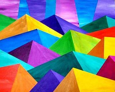 Colorful Painting - Mountainprism by Renee Nemerov