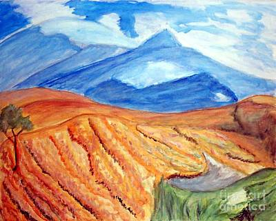 Mountains In Mexico Print by Stanley Morganstein