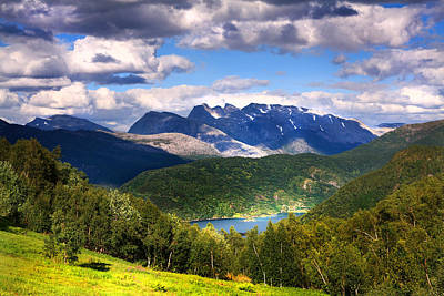 Norway Photograph - Mountains In Northern Norway by Sandra Rugina