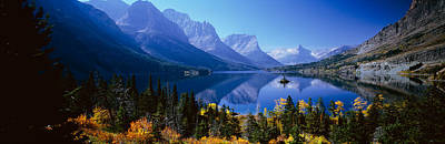Lake Mcdonald Photograph - Mountains Reflected In Lake, Glacier by Panoramic Images