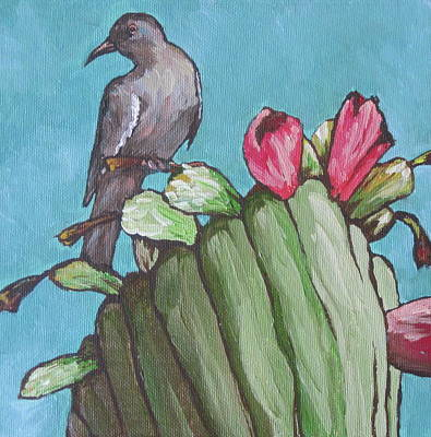 Saguaro Painting - Mourning Dove by Sandy Tracey
