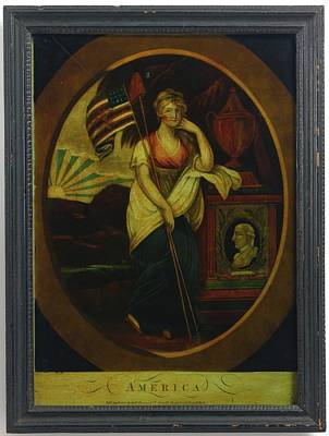 Poster Painting - Mourning Print To Washington by MotionAge Designs