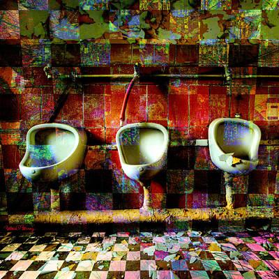 Urinal Digital Art - Move Over Marcel by Barbara Berney