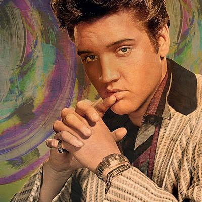 Elvis Painting - Movie Icons - Elvis Presley II by Joost Hogervorst