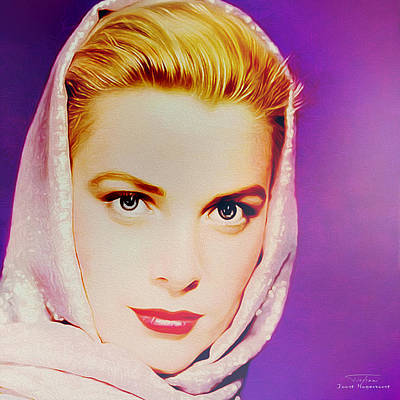 Grace Kelly Digital Art - Movie Icons - Grace Kelly I by Joost Hogervorst