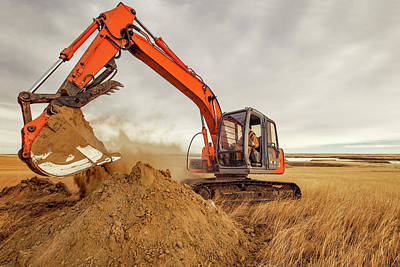 Machinery Photograph - Moving Earth by Todd Klassy