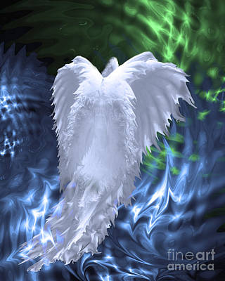 Angelic Digital Art - Moving Heaven And Earth by Cathy  Beharriell