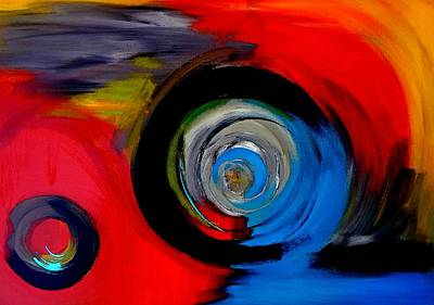 Abstract Painting - Moving Through Time And Space by Lisa Kaiser