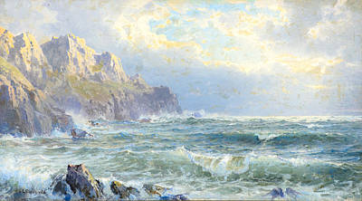 1833 Painting - Moye Point Guernsey Channel Islands by Celestial Images