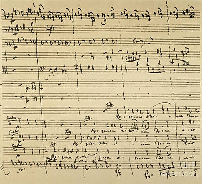 Mozart: Requiem Excerpt Print by Granger