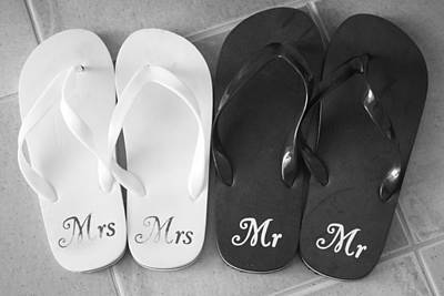 Mr And Mrs Print by Yvonne Ayoub