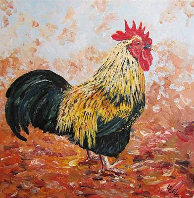 Bantam Painting - Mr Magnificent by Leonie Bell