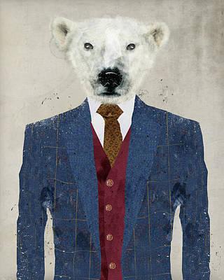 Bear Digital Art - Mr Polar Bear by Bri B