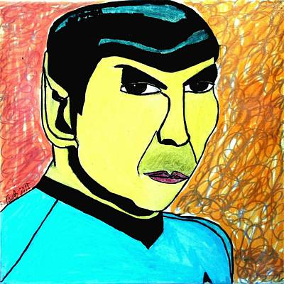 Space Ships Drawing - Mr. Spock by Paulo Guimaraes