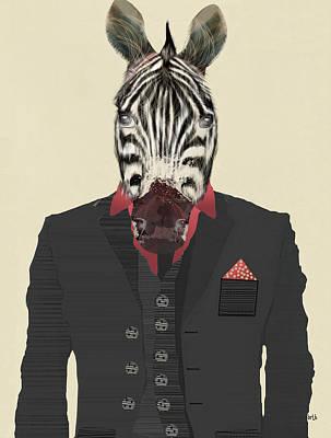 Zebra In Painting - Mr Zebra by Bri B