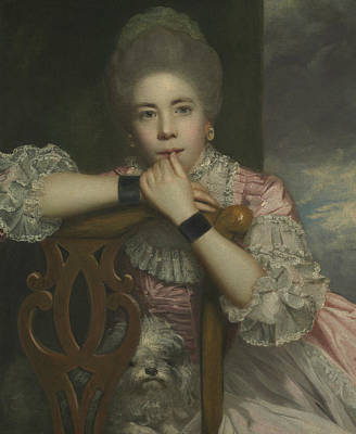 18th Century Painting - Mrs Abington As Miss Prue In Love For Love By William Congreve by Joshua Reynolds