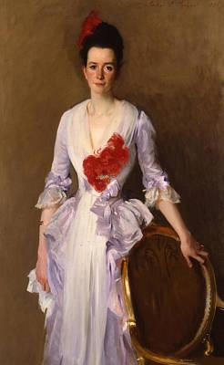 Silk Painting - Mrs Archibald Douglas Dick by John Singer Sargent