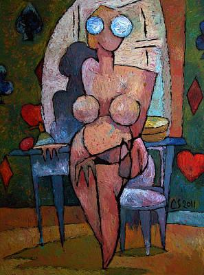High Key Painting - Mrs Cezannes Bath by Charlie Spear