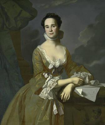 John Singleton Copley Painting - Mrs Daniel Hubbard  by John Singleton Copley