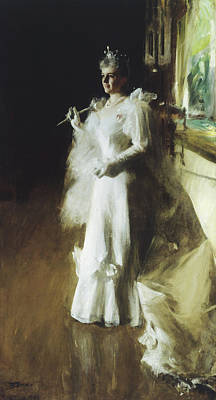 Zorn Painting - Mrs Potter Palmer by Anders Leonard Zorn