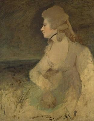18th Century Painting - Mrs Robinson  by Joshua Reynolds