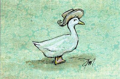 Ms. Puddle-duck Print by Jessica Matthews