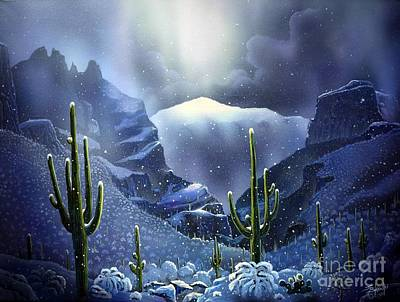 Finger Rock Canyon Snow Original by Jerry Bokowski