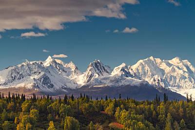 Autumn Landscape Photograph - Mt Mckinley- Alaska by Annia