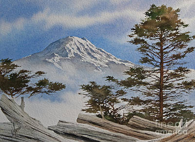Mt. Rainier Landscape Print by James Williamson