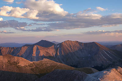Sunset Photograph - Mt. Shavano And Tabeguache Peak by Aaron Spong