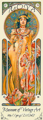 Photograph - Mucha Label 1894 by Padre Art
