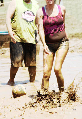 Volleyball Photograph - Mud Belly  by Steven  Digman