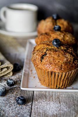 Muffins And Coffee Print by Deborah Klubertanz