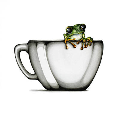 Frogs Painting - Muggy by Christina Meeusen