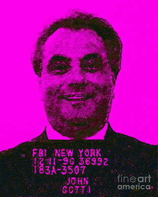 Gangs Digital Art - Mugshot John Gotti M88 by Wingsdomain Art and Photography