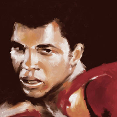 Muhammad Ali Art Painting - Muhammad Ali 551 1 by Mawra Tahreem