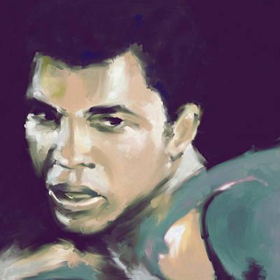 Muhammad Ali Art Painting - Muhammad Ali 551 2 by Mawra Tahreem