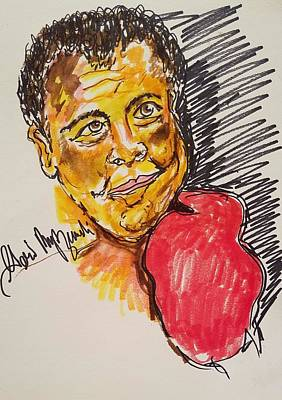 Muhammad Ali Drawings Painting - Muhammad Ali by Geraldine Myszenski