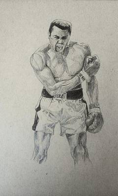 Muhammad Ali Drawings Drawing - Muhammad Ali, Greatest Of All Time by Aftab Ibrahim