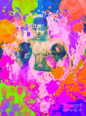 Muhammad Ali Drawings Painting - Muhammad Ali Pop Art Pur by Felix Von Altersheim