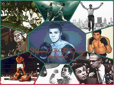 Joe Frazier Digital Art - Muhammad Ali The Greatest  by Karen Buford